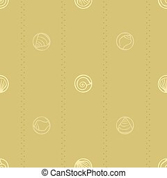 Seashell stamps background