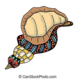 Seashell. Vector illustration.