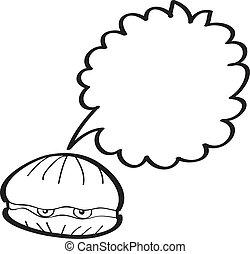 seashell - vector illustration.