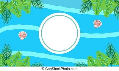 seashells, saison, vacances, armature circulaire, été