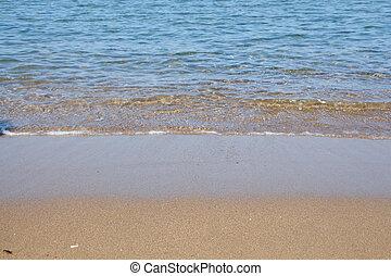 Seashore and wet sand backgrouns