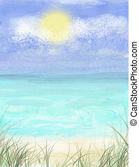 Seashore Background - A background I created for a vacation,...