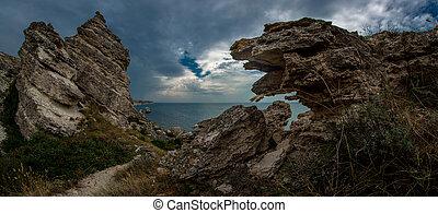 seashore Crimea - Beauty nature sea landscape Crimea,...