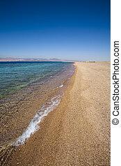 Seashore - empty beach in a sunny day