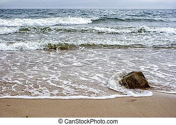 seashore in a storm