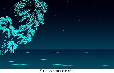 tropical beach wedding illustration bride and groom newly