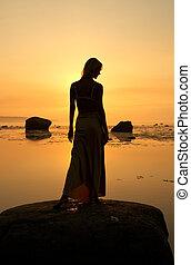 seashore silhouette