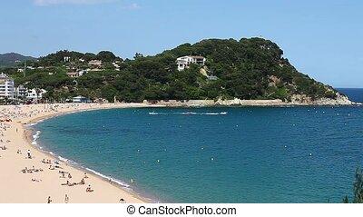 seashore - HD1080: Top view of the sea and the beach Spain....