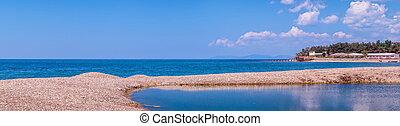 Seashore summer panorama