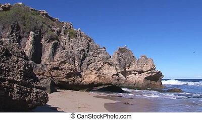 Seashore with waves - A full shot of a seashore and waves...