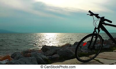 Seaside and the bicycle