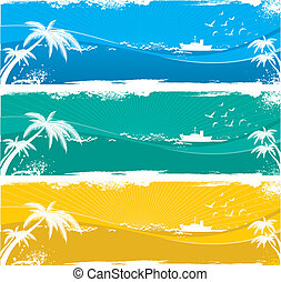 the tropical seaside view background