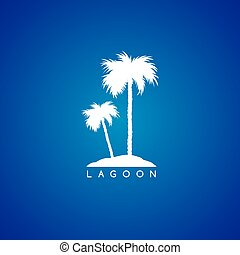 seaside beach theme logo template vector illustration