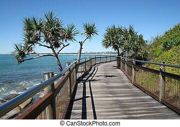 Seaside Boardwalk - Seaside boardwalk at Caloundra, Sunshine...