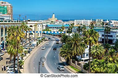 Seaside boulevard in Algiers, the capital of Algeria. North Africa