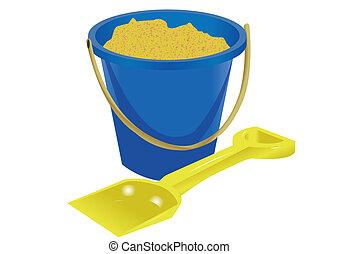 seaside bucket and spade