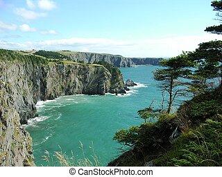 Seaside cliffs - Rugged seaside cliffs in Newfoundland on ...