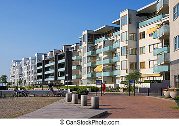 Seaside of Malmo, Sweden - Modern buildings in Western...