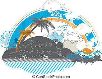 seaside scenery background