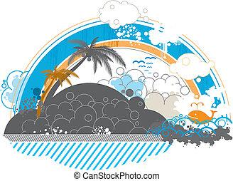 seaside scenery background