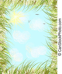 Seaside Summer Sky border - A design I created from memories...