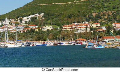 """seaside summer travel destination, yeni foca, turkey"""