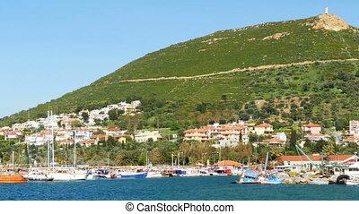 """seaside summer travel destination, yeni foca, turkey"""