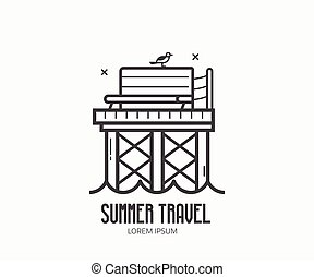 Seaside Summer Travel Logotype