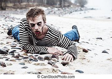 Seaside zombie hunting