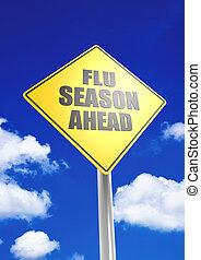 seasion, grippe, devant