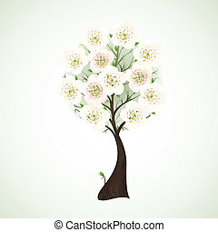 flowering tree  - Season flowering tree with light flowers
