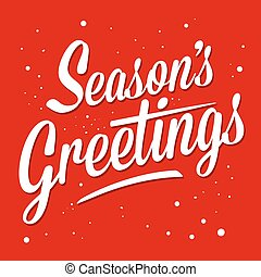 Season Greetings - Season greetings typography art vector...