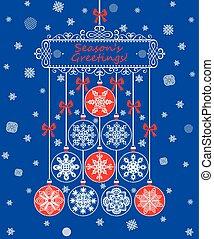 Season greetings for winter holiday