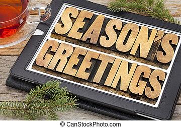 season greetings typography
