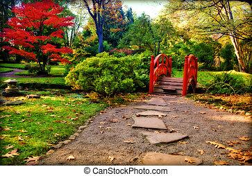 season in Japanese garden