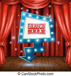 Season Sale Light Banner Illustration