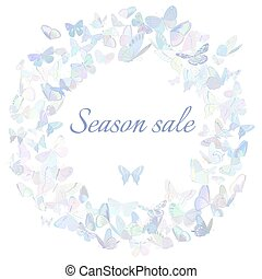 Season sale marketing poster, banner, promotion flyer
