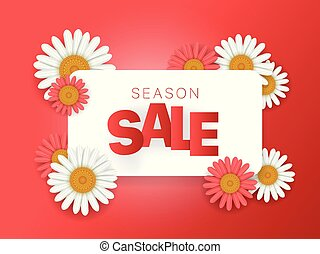 Season sale offer. Season sale vector banner. Horizontal composition