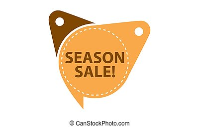 Season Sale Tag Template Isolated
