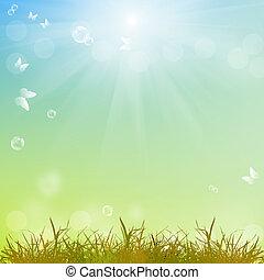 season., természet, nyár, elvont