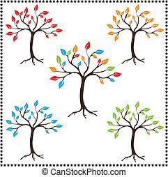 Season trees, Vector illustration