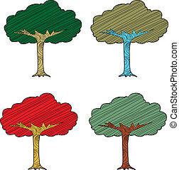 Seasonal Abstract Trees