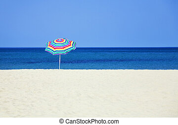 Seasonal and Holidays: sun umbrella on the beach