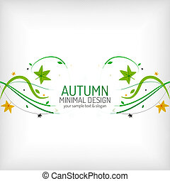 Seasonal autumn greeting card, minimal design - Seasonal...