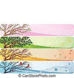 seasonal banner - 4in1 vector banner with seasonal theme.