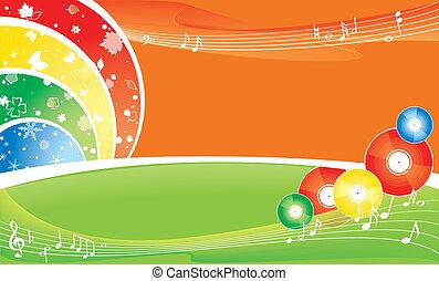 seasonal brightness background - music all the year round -...
