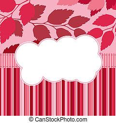Seasonal card with scrapbook elemen