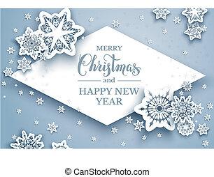Seasonal Christmas paper cut