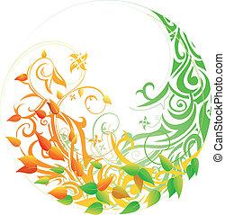 Seasonal cycle. Summer to Autumn - Seasonal cycle from...