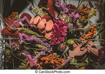 bouquet from dried flowers
